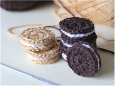 How to Crochet Cream Filled Biscuits