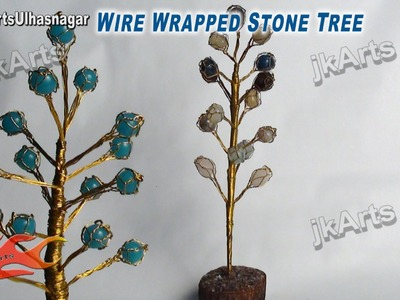 HOW TO: DIY Wire Wrapped Stone Tree - JK Arts 436