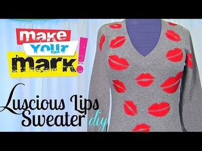 How to: Luscious Lips Sweater DIY