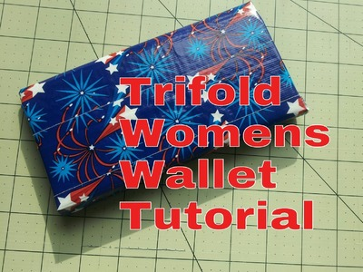 How to make a Trifold Woman's Wallet Tutorial (DIY)