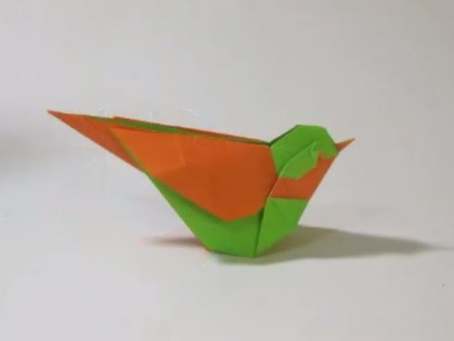 How to make an Origami Little Bird