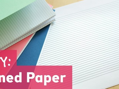 How to Make Lined Paper for Bookbinding