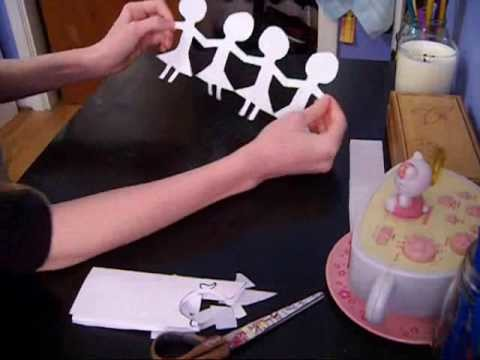 How to make paper chain dolls