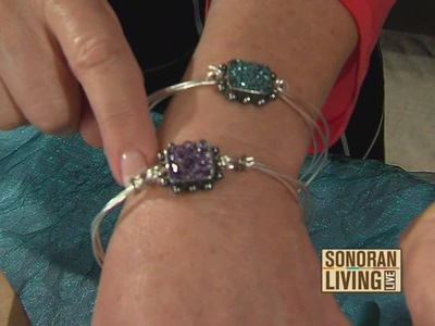 Learn how to make DIY glitter bangle bracelets