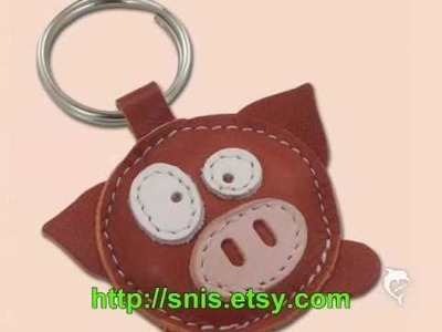 Leather keychain handmade by SNiS
