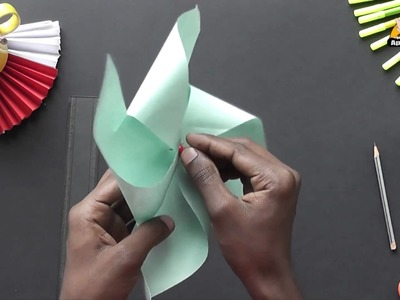 Make a Pinwheel the easy way - Arts & Crafts in Kannada