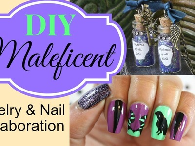 Maleficent Jewelry DIY collab w. Dee 2012 Nails