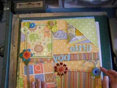 Premade Tear Bear Scrapbook Pages and Lace