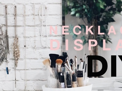 Quick Tips: DIY Necklace Display (cheap)