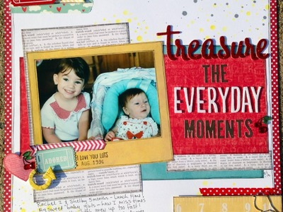 Scrapbooking: Layout Share 001
