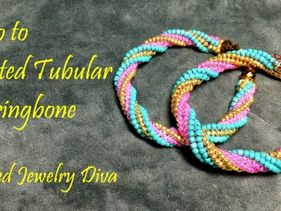 Twisted Tubular Herringbone Stitch Tutorial - Twisted Tubular Herringbone Bracelet