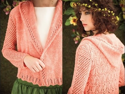 #24 Lace Back Hoodie, Vogue Knitting Spring.Summer 2012