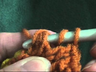 Back Post Double Crochet (bpdc)