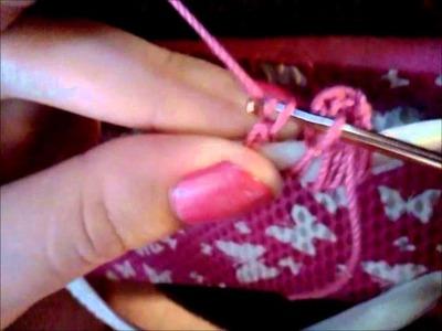 Beaded Crochet flip flop sandal Tutorial part 1