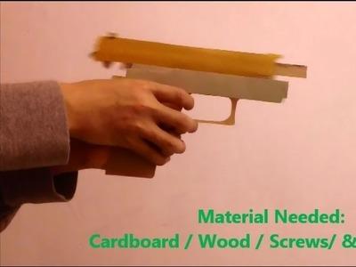 Blowback Rubberband Gun- Tutorial- DIY