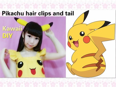 Cosplay DIY Pikachu Ears and tail (Easy)