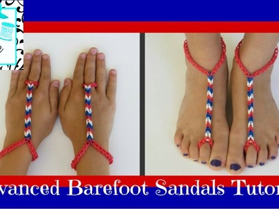 Craft Life ~ Advanced Rainbow Loom Barefoot Sandals Tutorial