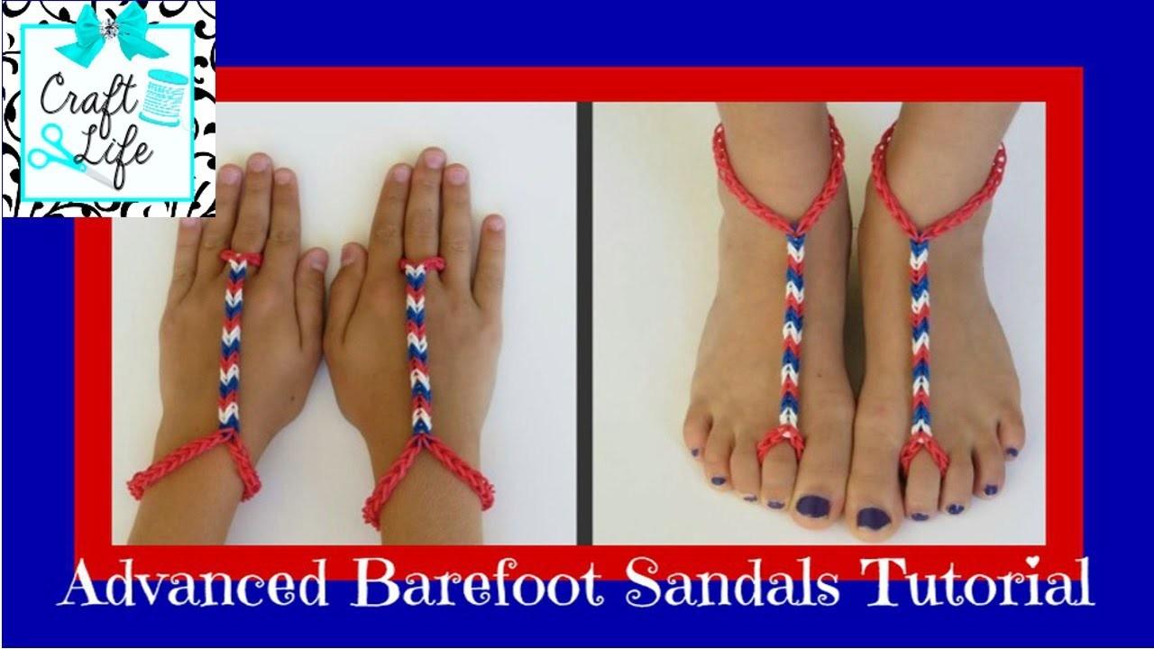 Craft Life ~ Advanced Rainbow Loom Barefoot Sandals Tutorial