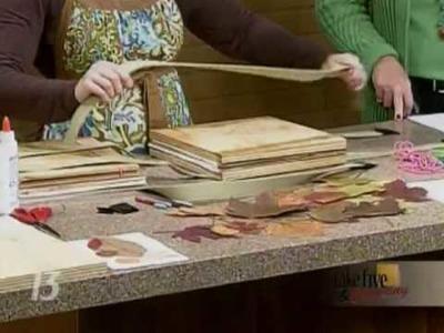 CraftSanity on TV: Making a leaf press