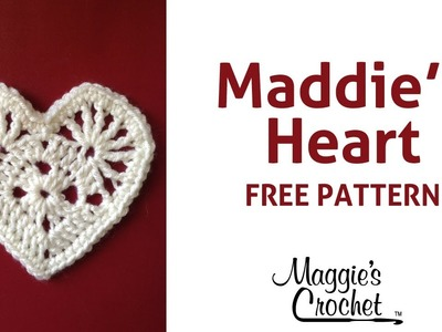 Crochet Maddie's Heart Worsted Weight Yarn - Right Handed