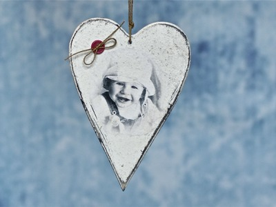 Decoupage tutorial - heart with a photo