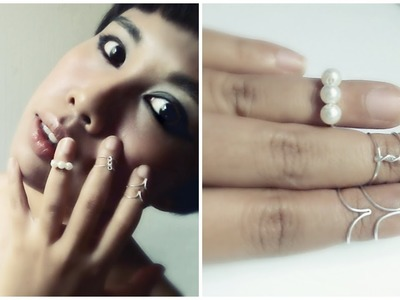 DIY Above Knuckle Rings Tutorial : 3 Ways