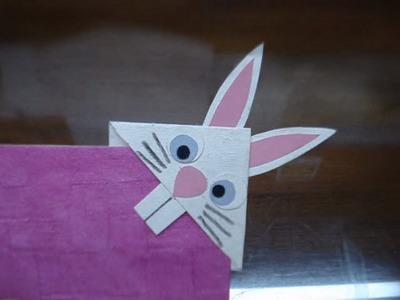 DIY Bunny Rabbit Bookmark