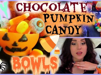 DIY Chocolate Pumpkin Candy Bowls  | Halloween Treats | BALLOON BOWLS