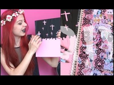 DIY: Creepy.Pastel Goth School Supplies #Backtoschool