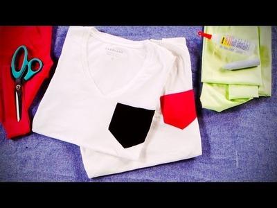 DIY Fashion | Neon Pocket Tee | Designer DIY