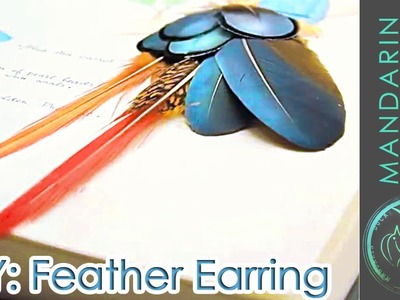 DIY:FEATHER EARRING