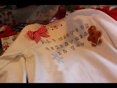 ❄ DIY Ugly Christmas Sweater Tutorial!☃ (CRAFTMAS)