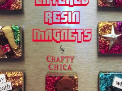 Easy Resin Magnets || DIY Gift Project