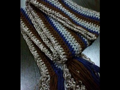 Extra Long Crocheted Men's or Womens scarf