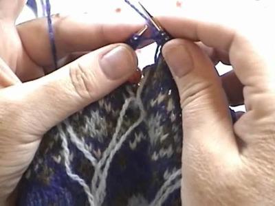 Fair Isle Knit Along Tutorial Part 5 B: Beginning the Underarm Steek