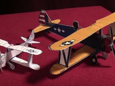 Free Scale Paper Biplane (WW II Stearman Model 75)