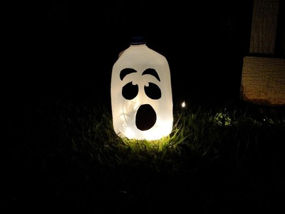Halloween Ghost Lantern (a DIY craft) SUPER EASY