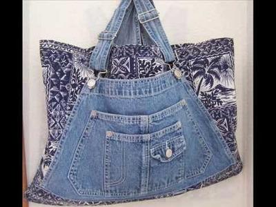 Handmade Bib Overall Tote Bags