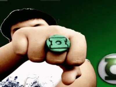 Homemade Green Lantern Rings