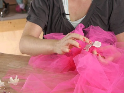 How to Attach Flowers & Rhinestones to a Tutu : Tutus, Ribbons & Other Crafts