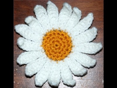 How to Crochet a Daisy Flower Part II