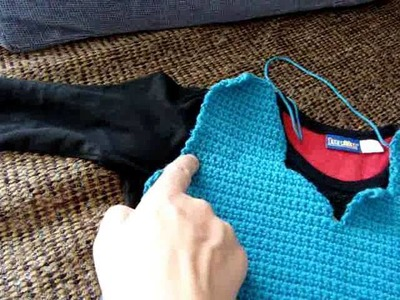 How to crochet clothes that fit you best.General idea not a tutorial
