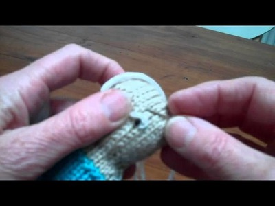 How to embroider the eyes on your knits