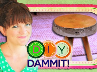 HOW-TO Make a Concrete Stool w. Allison Fields - DIY DAMMIT!