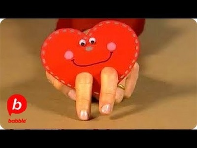 How to Make a Valentine's Day Heart Finger Puppet | Crafts | Babble