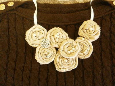 How to make flower necklace, DIY, bib necklace,Tutorial
