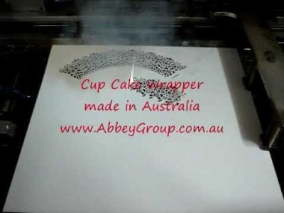 Laser cut Cupcake Wrapper for Decorating