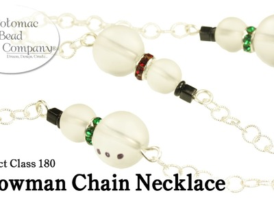 Make a Snowman Chain Necklace