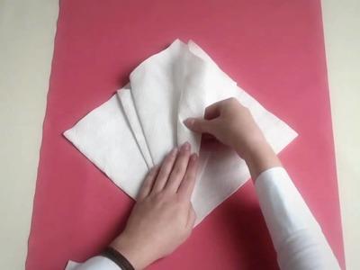Napkin folding from Duni - Flower