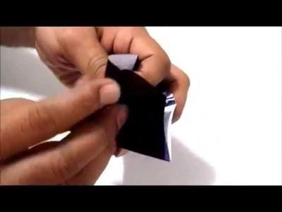 Origami Paper Star Lantern easy. Origami de papel de la estrella de la linterna fácil